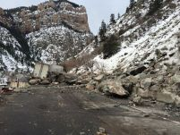 glenwood canyon rock fall feb 16 2