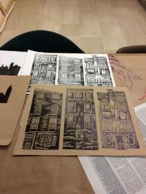 in the print making studio