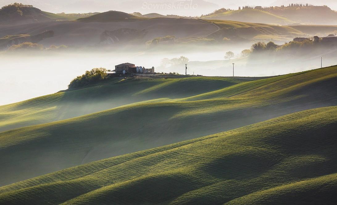 Toskania krajobraz druk