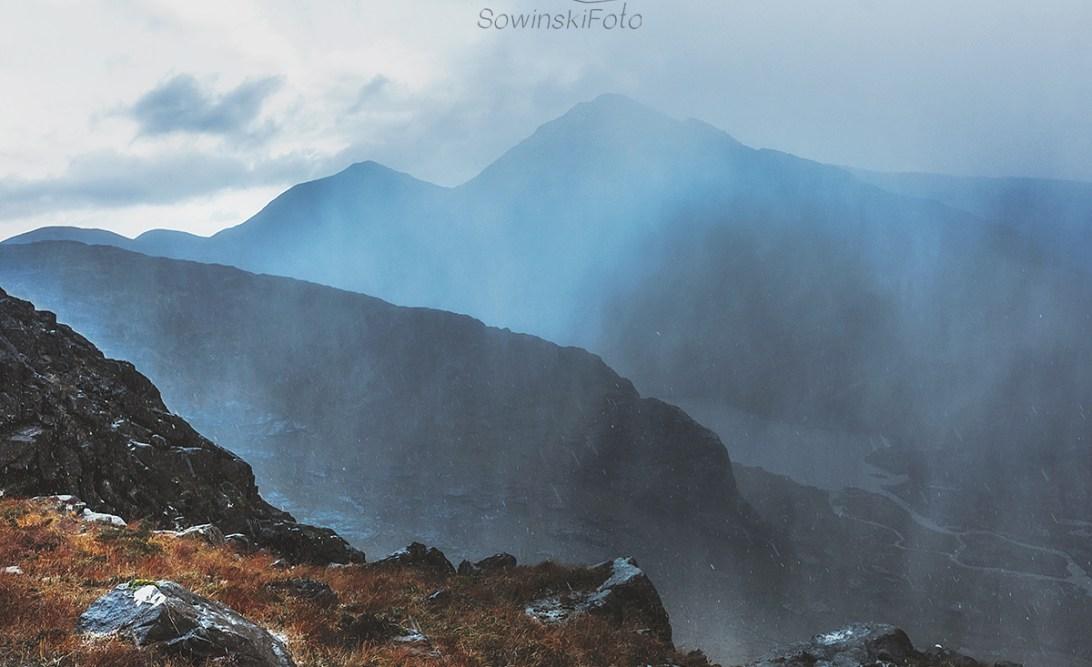 Szkocja deszcz zdjęcie na płótnie