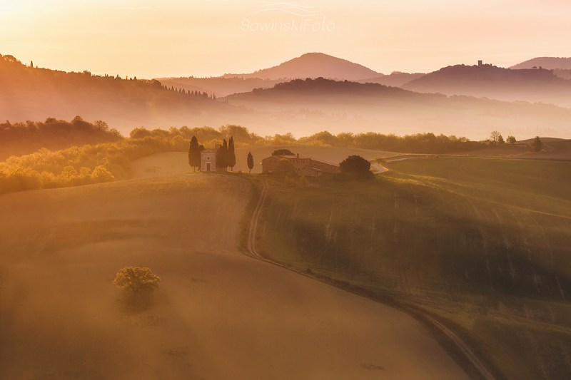 Toskania krajobraz kup