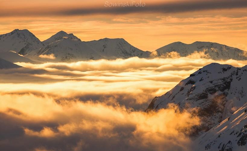 Tatry w chmurach krajobraz