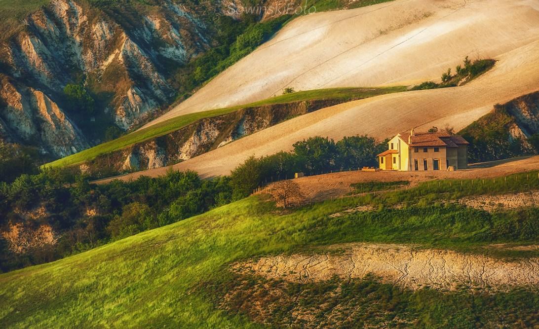 Toskania farmy krajobraz