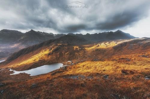 Krajobraz góry Isle of Skye
