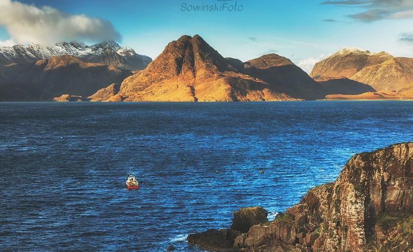 Statek w zatoce /Szkocja