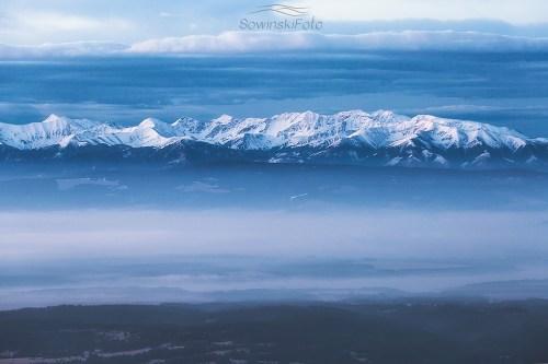 Tatry zdjęcie z Babiej Góry
