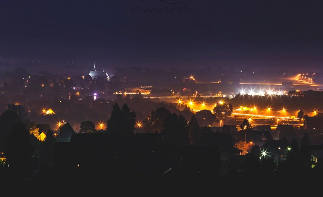 Krajobraz Jabłonka nocą