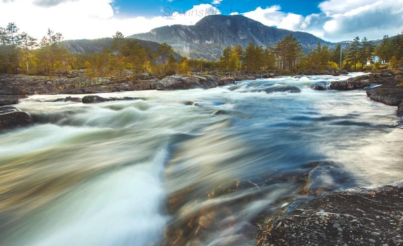 Krajobraz rzeka Norwegia