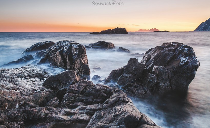 Lofoty morze zdjęcie na płótnie