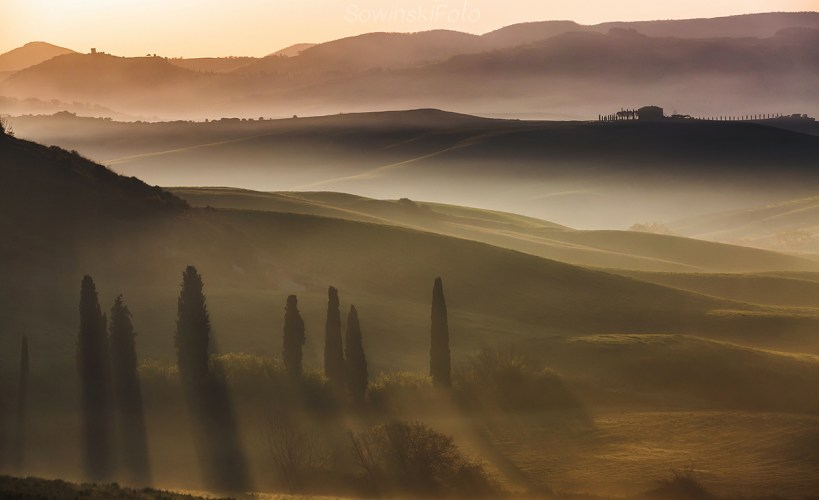 Krajobraz Włoch Toskania