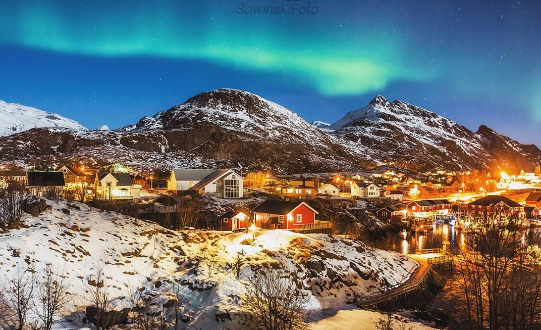 Norwegia zorza zdjęcia