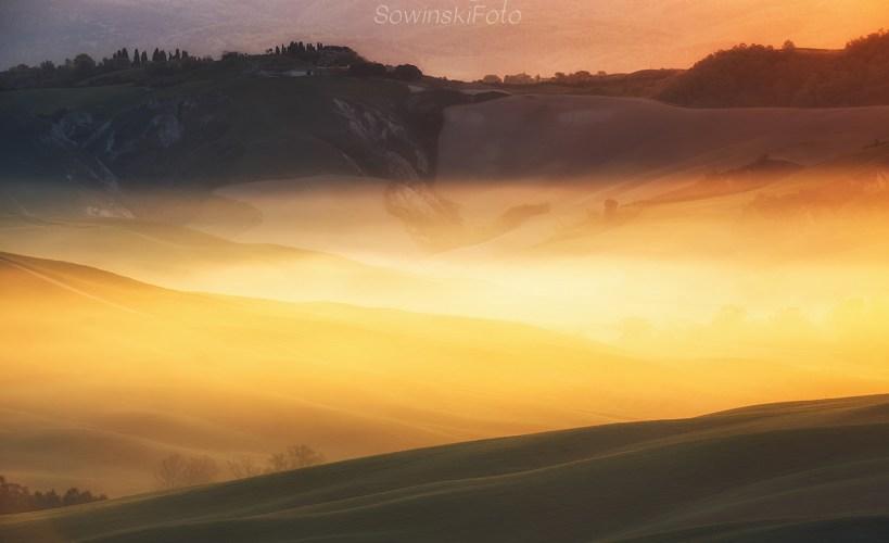 Toskania pogoda poranka