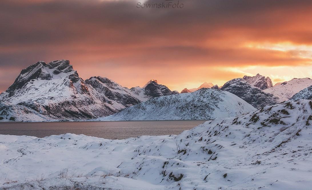 Lofoty wycieczka zachód słońca