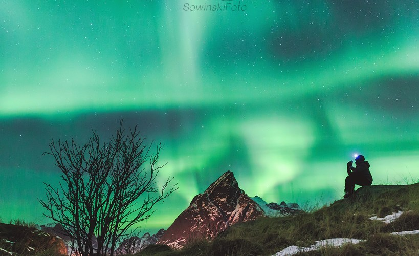 zorza polarna Norwegia Lofoty
