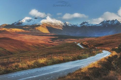 isle of skye góry Droga na szczyt/ Szkocja