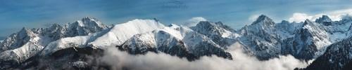 Tatry w chmurach Zimowe