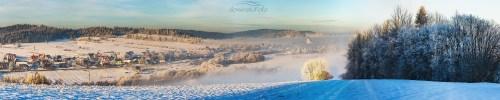 Podwilk na Orawie Podwilczanska zima