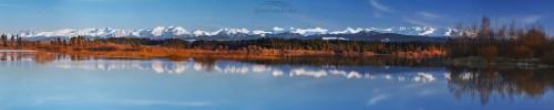 Jezioro Orawskie i Tatry Jezioro Orawskie