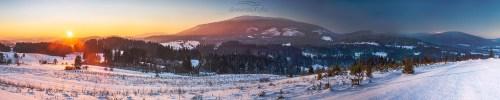 Babia Góra panorama Koło Zubrzycy