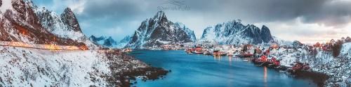 Poranek na Lofotach Świt /Norwegia