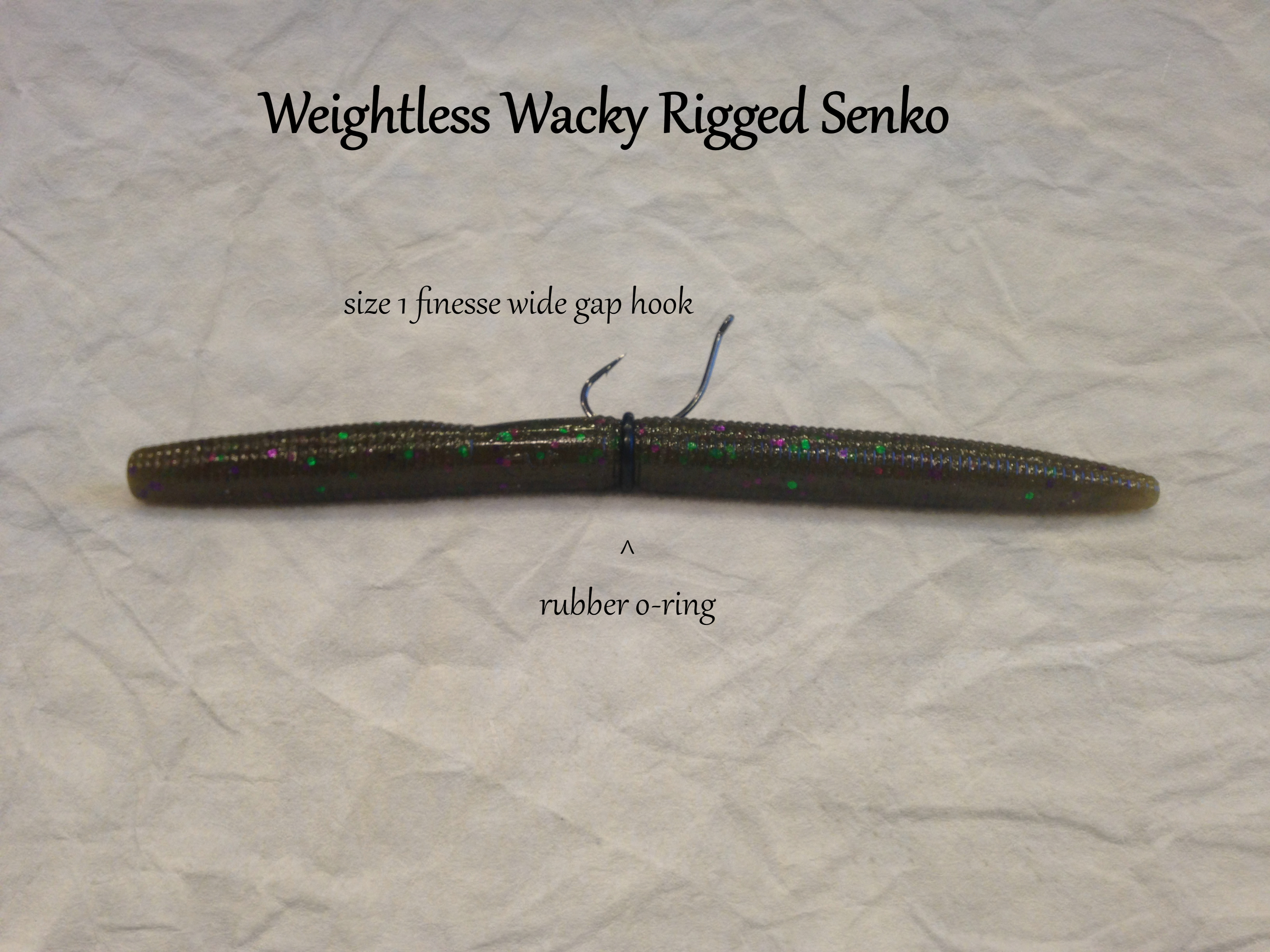 Real Fish Sink-O-Ring Sink-O-Ring use Yamamoto Senko Worms Soft baits NO Tool Needed Better Hook ups O Ring Wacky Style Rigging rig orings