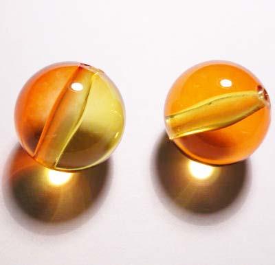 acryl rond geel 17 mm