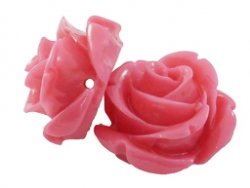 kunststof roosje 15 mm roze