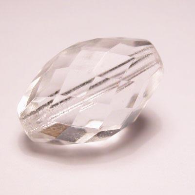 facet ovaal  crystal 12x18 mm