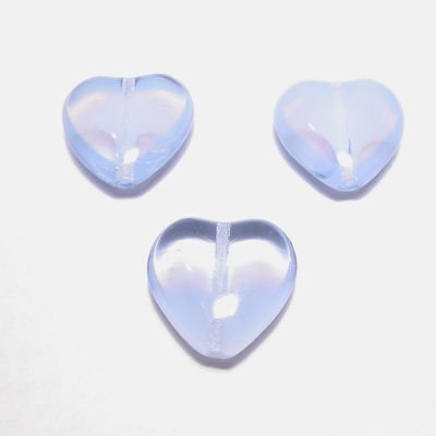 hartje blauw/transparant 16 mm
