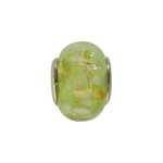 pandorastyle glas rondel 13 mm groen/goud