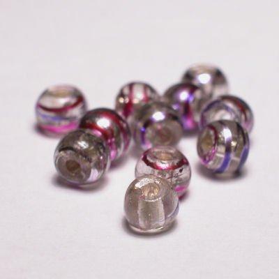 rond met streep lila 4 mm