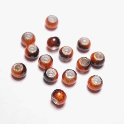 miracle bead oranjebruin 4 mm