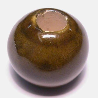 keramiek  olijfbruin 14x17 mm