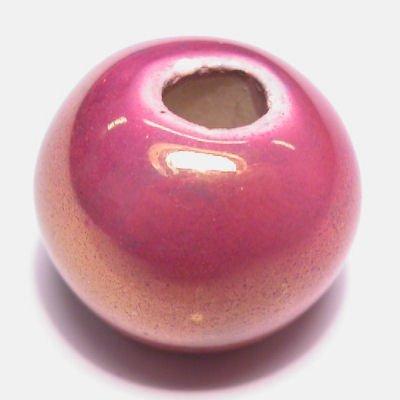 keramiek parelmoer rose 14x17 mm