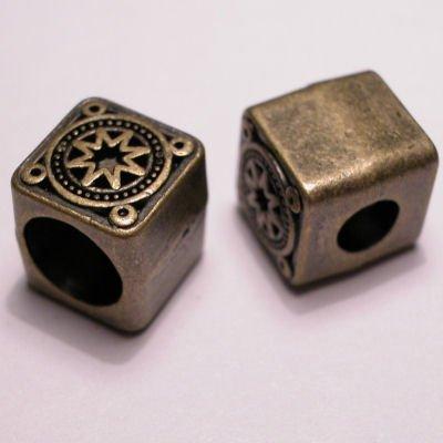 ethnic vierkant oud goud 10,5 mm