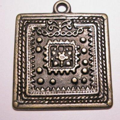 ethnic vierkant oud goud 32 mm