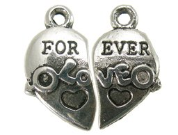 metalen hanger for ever love 22x22 mm