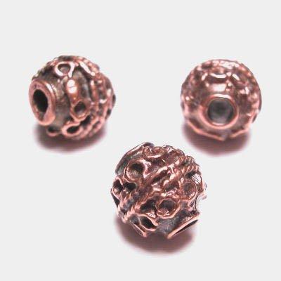 kraal rond 9 mm brons