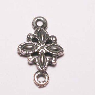 bloem 2-oog oud zilver 12 mm
