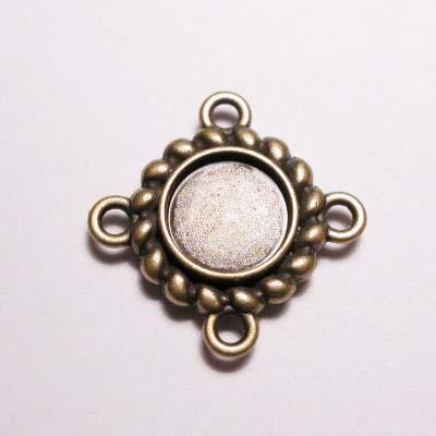 kastje 4-oog oud goud 7 mm