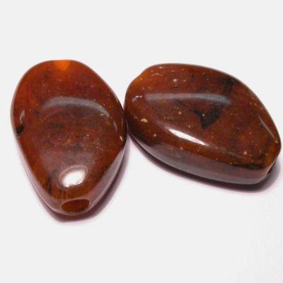 etnisch plat ovaal roodbruin 16x23 mm