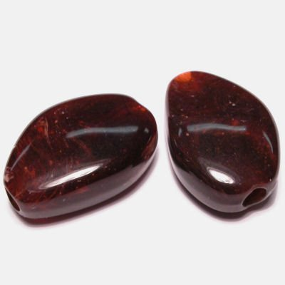 etnisch plat ovaal b.rood 16x23 mm