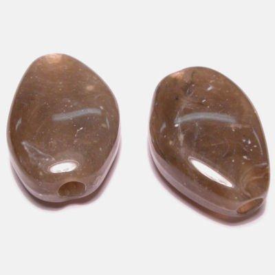 etnisch plat ovaal grijs 16x23 mm