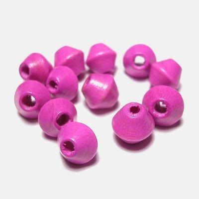 kraal konisch donker roze 6 mm
