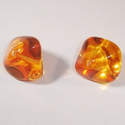 brok orange/geel 14x19 mm