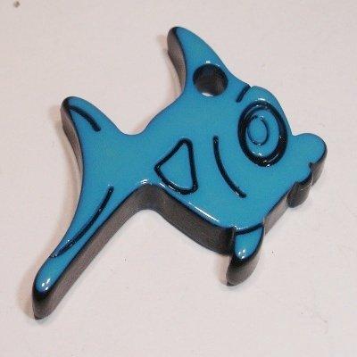 vis blauw 30x25 mm