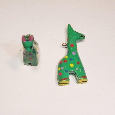 bedel giraf groen ca. 46x13 mm