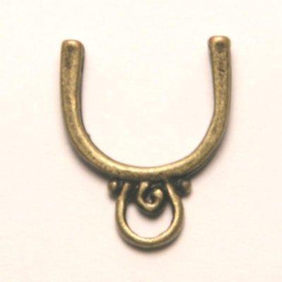 tussenzetsel voor 12mm kraal antiek goud