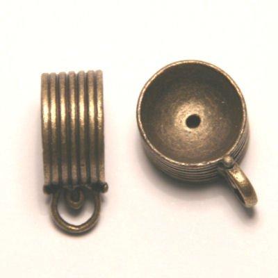 tussenzetsel voor kralen 16mm antiek goud