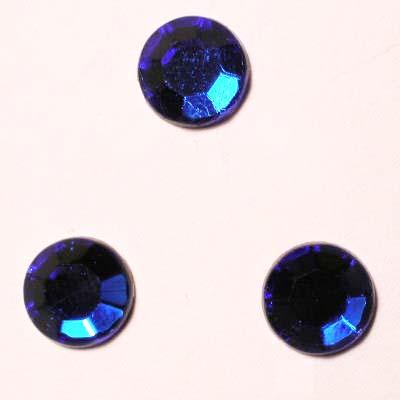 strass plaksteen kristal sapphir 7 mm